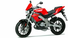 Derbi GPR 125 Nude In Red White Background N Side Pose